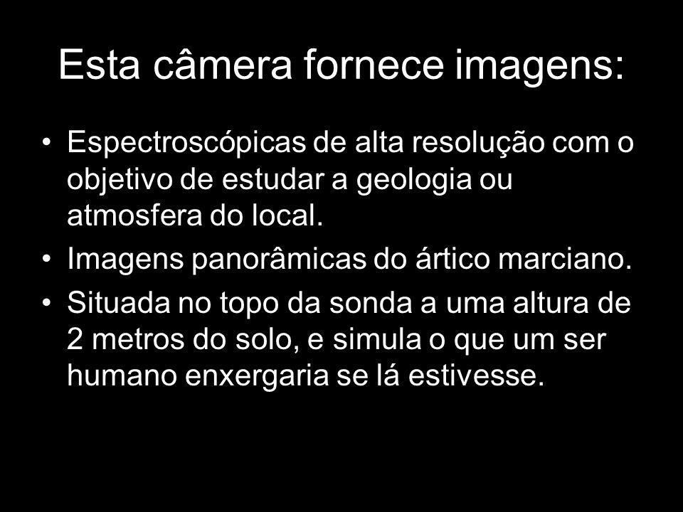 Esta câmera fornece imagens: