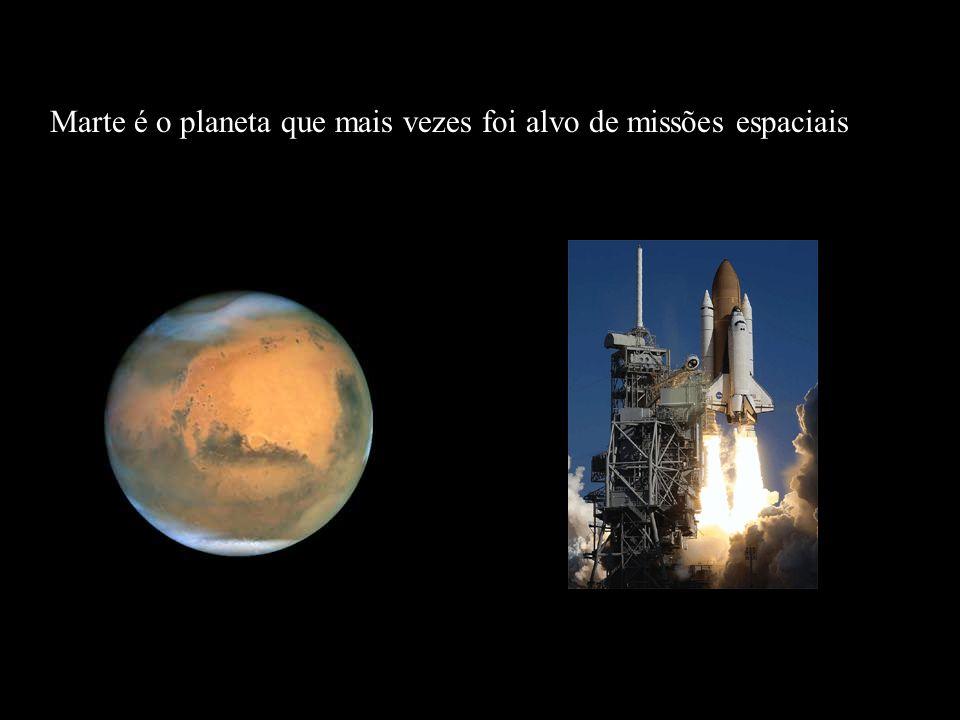 Marte é o planeta que mais vezes foi alvo de missões espaciais