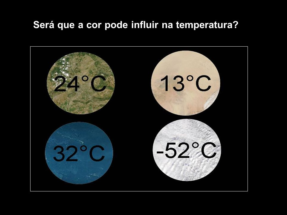 Será que a cor pode influir na temperatura