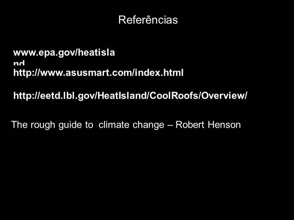 Referências www.epa.gov/heatisland http://www.asusmart.com/index.html