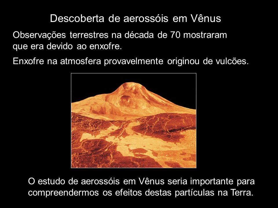 Descoberta de aerossóis em Vênus