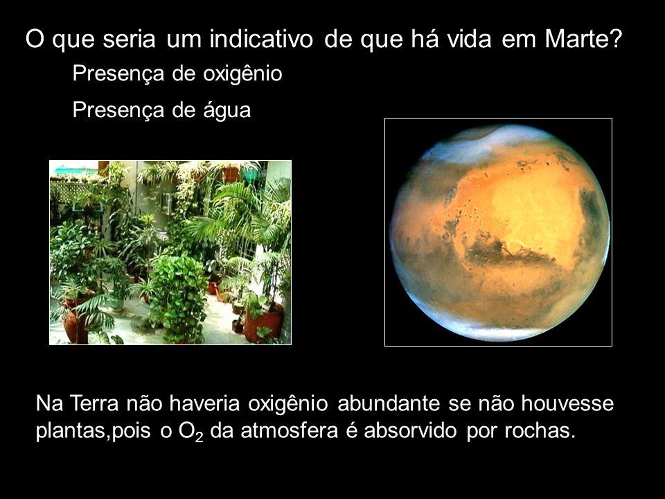 O que seria um indicativo de que há vida em Marte