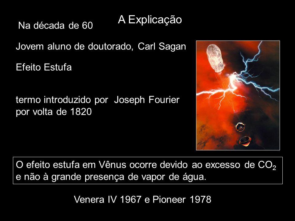 A Explicação Na década de 60 Jovem aluno de doutorado, Carl Sagan