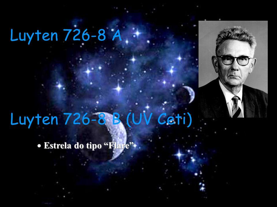 Luyten 726-8 A Luyten 726-8 B (UV Ceti)  Estrela do tipo Flare