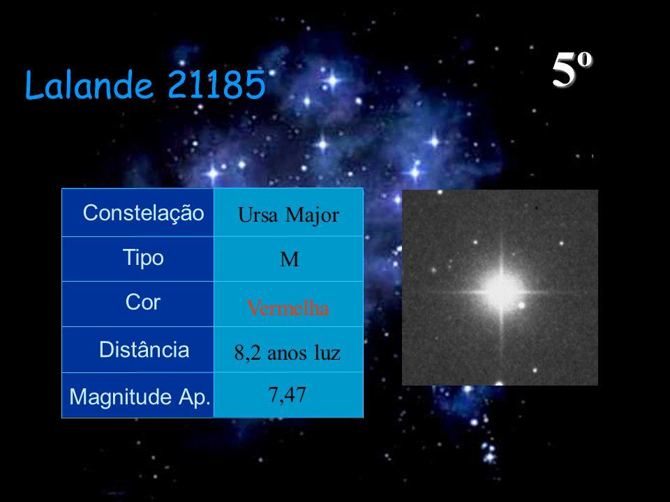 5º Lalande 21185 Constelação Ursa Major Tipo M Cor Vermelha Distância