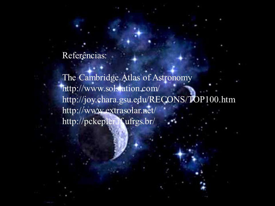 Referências: The Cambridge Atlas of Astronomy. http://www.solstation.com/ http://joy.chara.gsu.edu/RECONS/TOP100.htm.