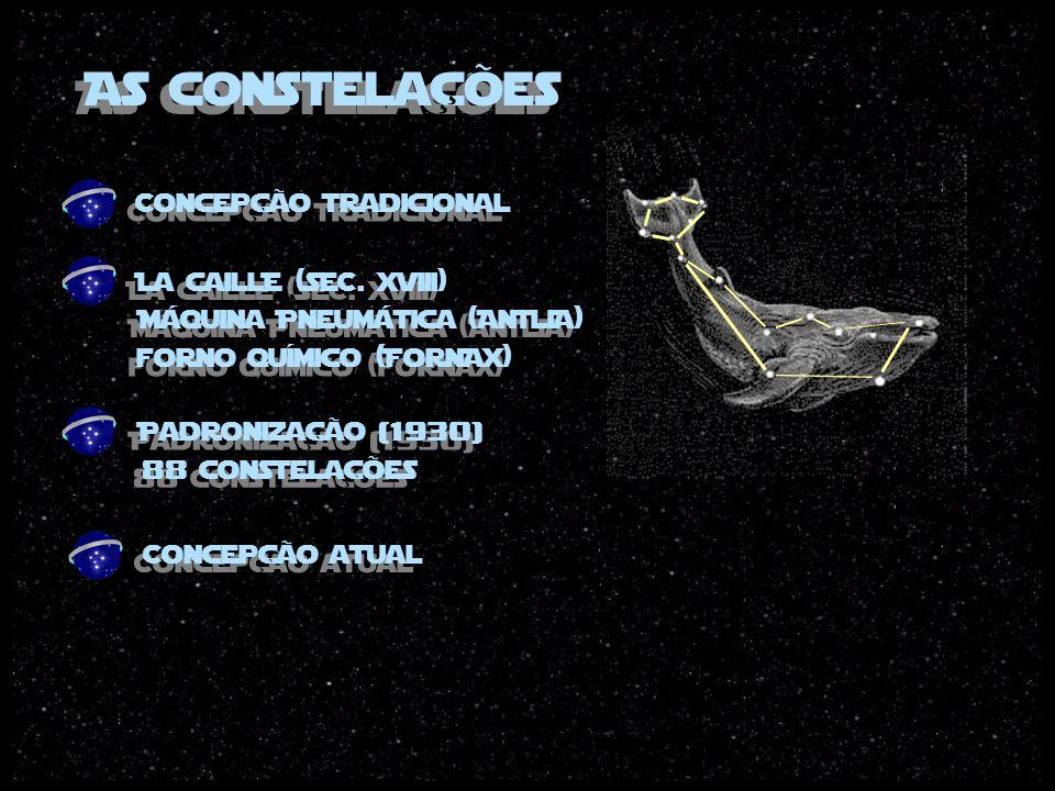 As constelações 88 constelações Concepção tradicional