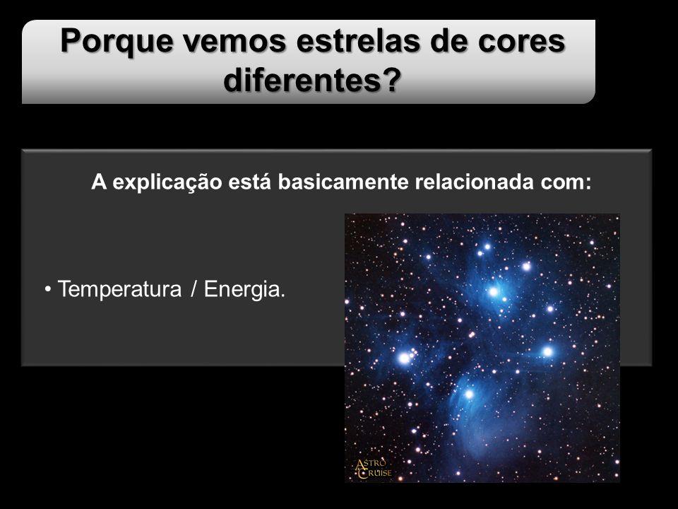 Porque vemos estrelas de cores diferentes