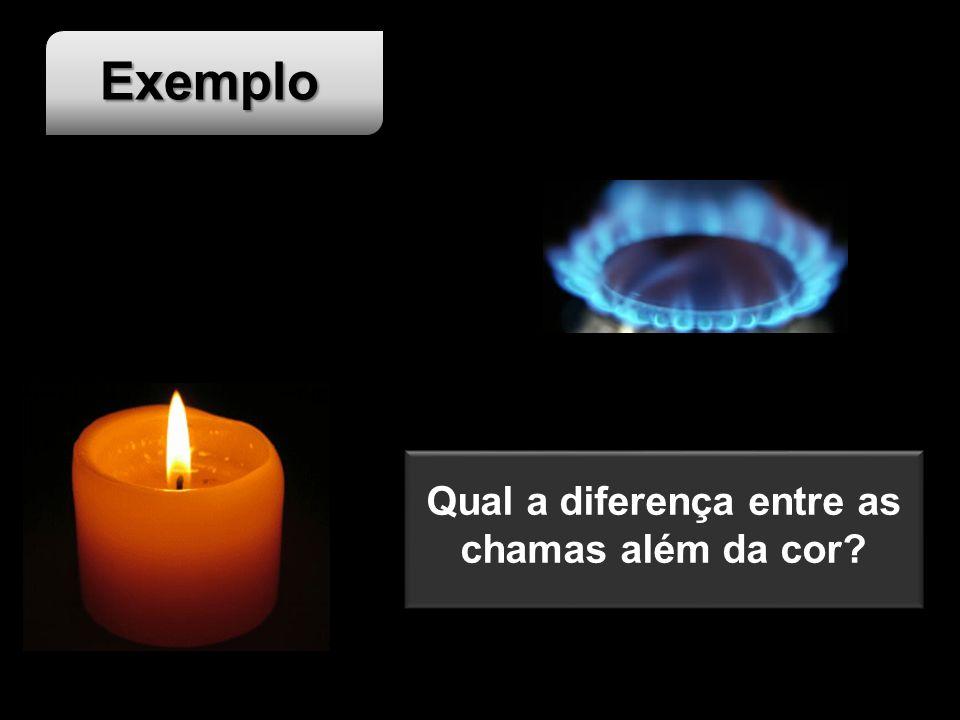 Qual a diferença entre as chamas além da cor