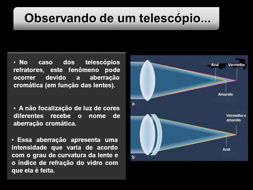 Observando de um telescópio...