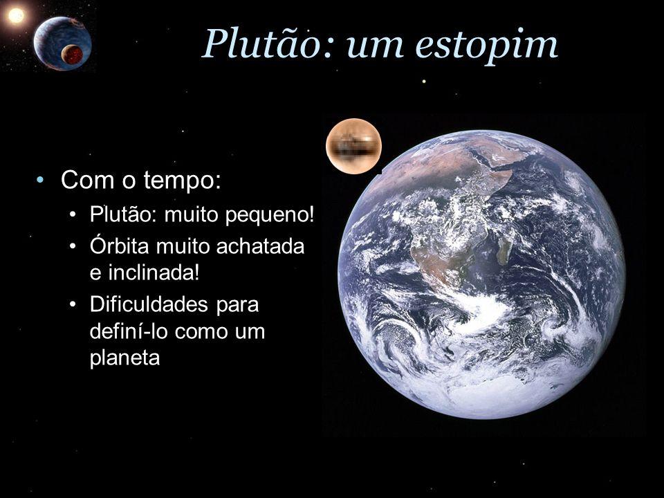 Plutão: um estopim Com o tempo: Plutão: muito pequeno!