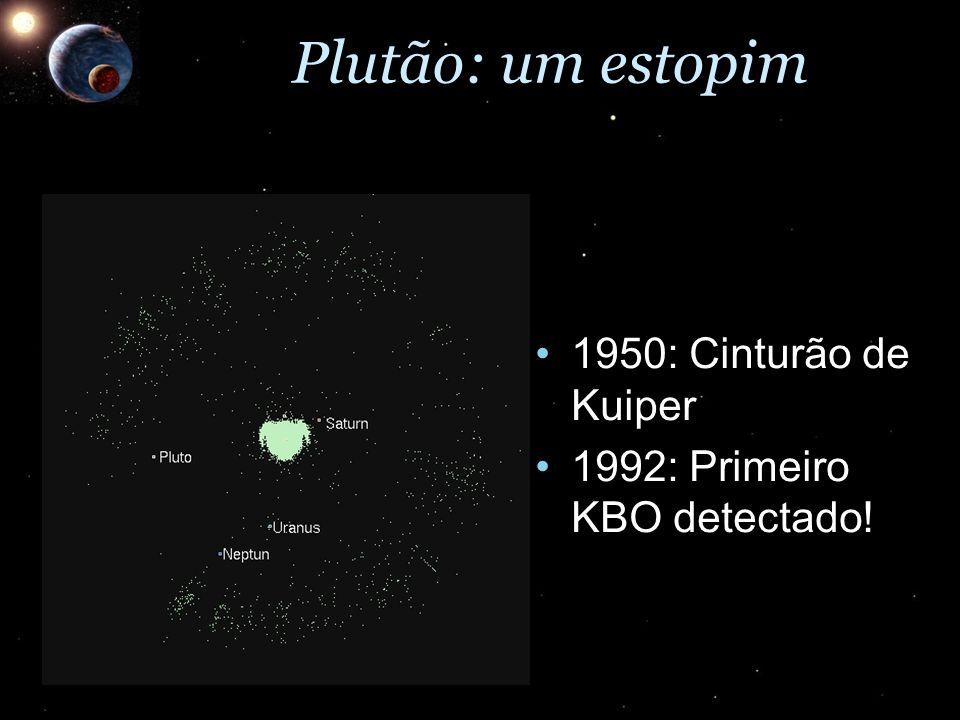 Plutão: um estopim 1950: Cinturão de Kuiper