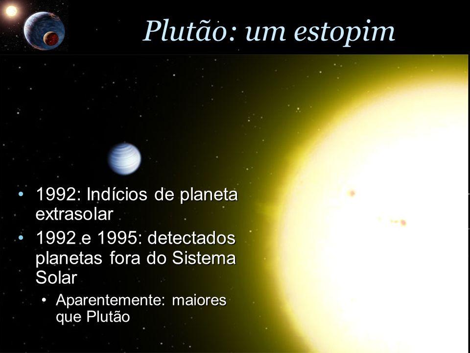 Plutão: um estopim 1992: Indícios de planeta extrasolar