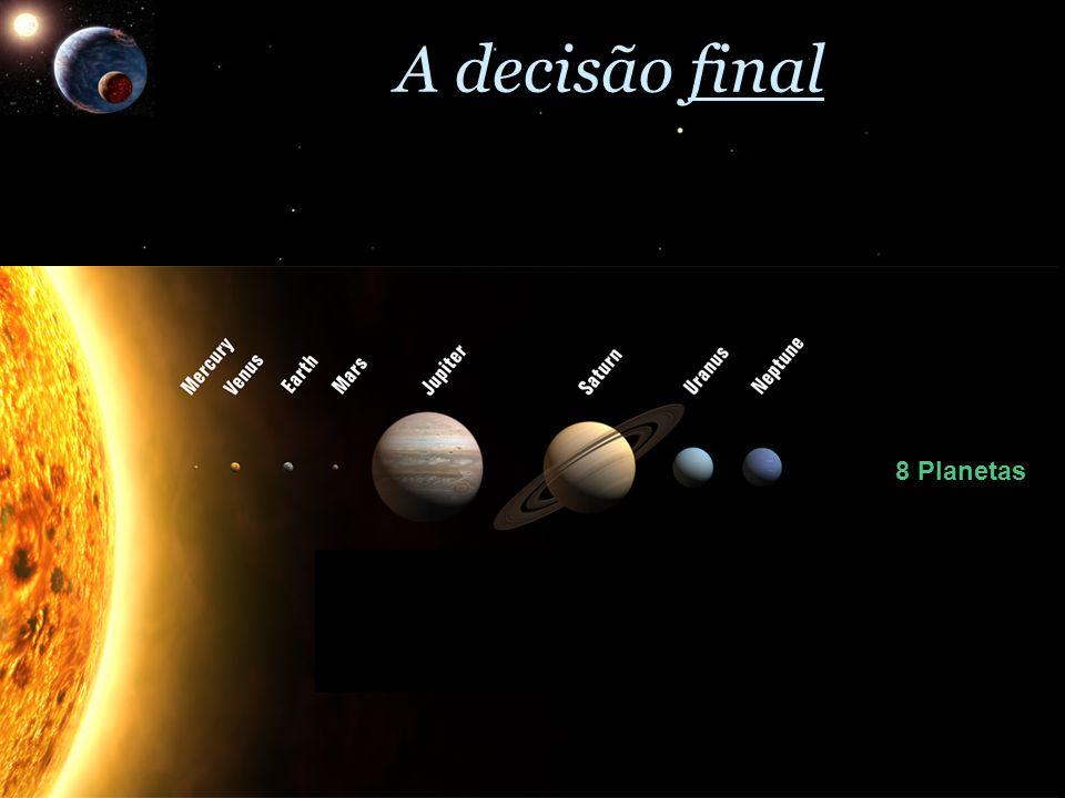 A decisão final 8 Planetas 3 Planetas-Anões
