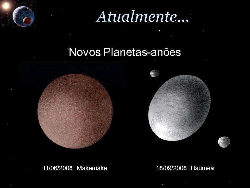 Atualmente... Novos Planetas-anões 11/06/2008: Makemake
