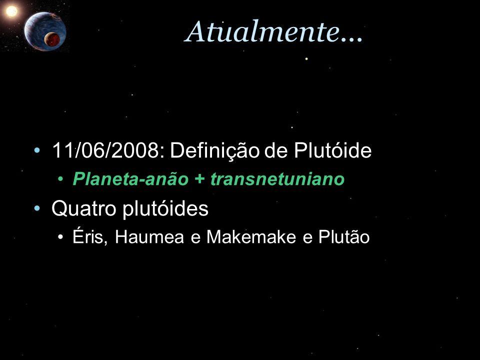Atualmente... 11/06/2008: Definição de Plutóide Quatro plutóides
