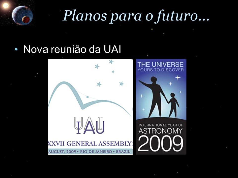 Planos para o futuro... Nova reunião da UAI