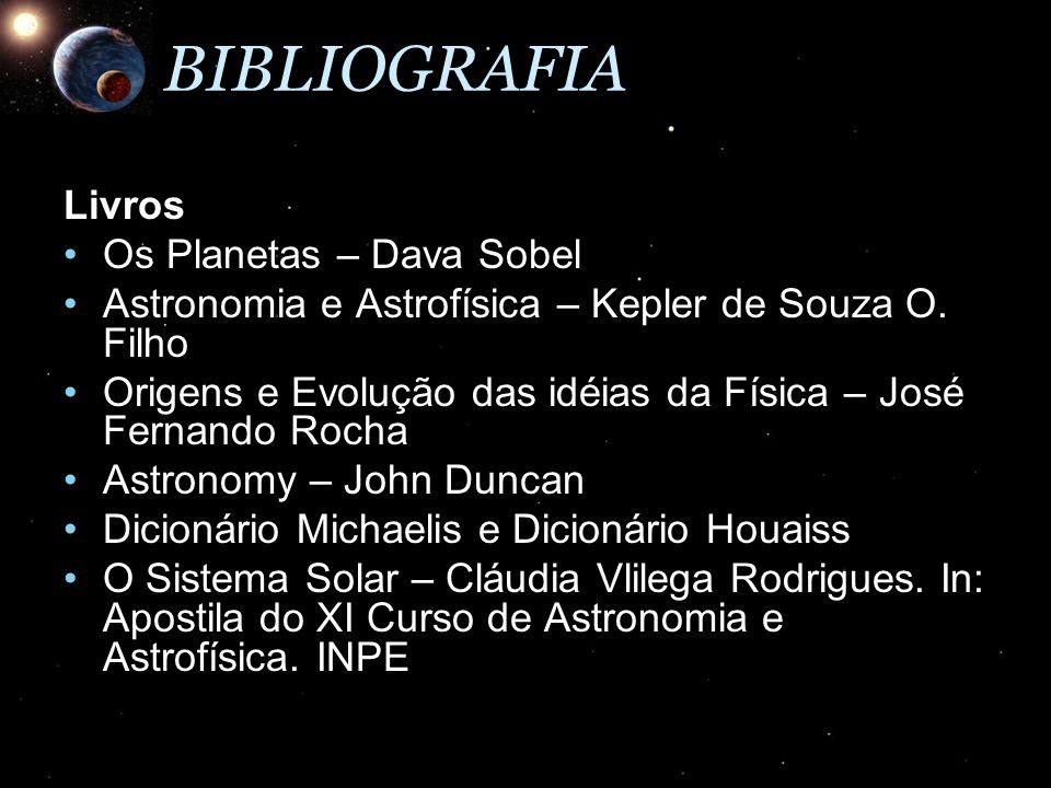 BIBLIOGRAFIA Livros Os Planetas – Dava Sobel
