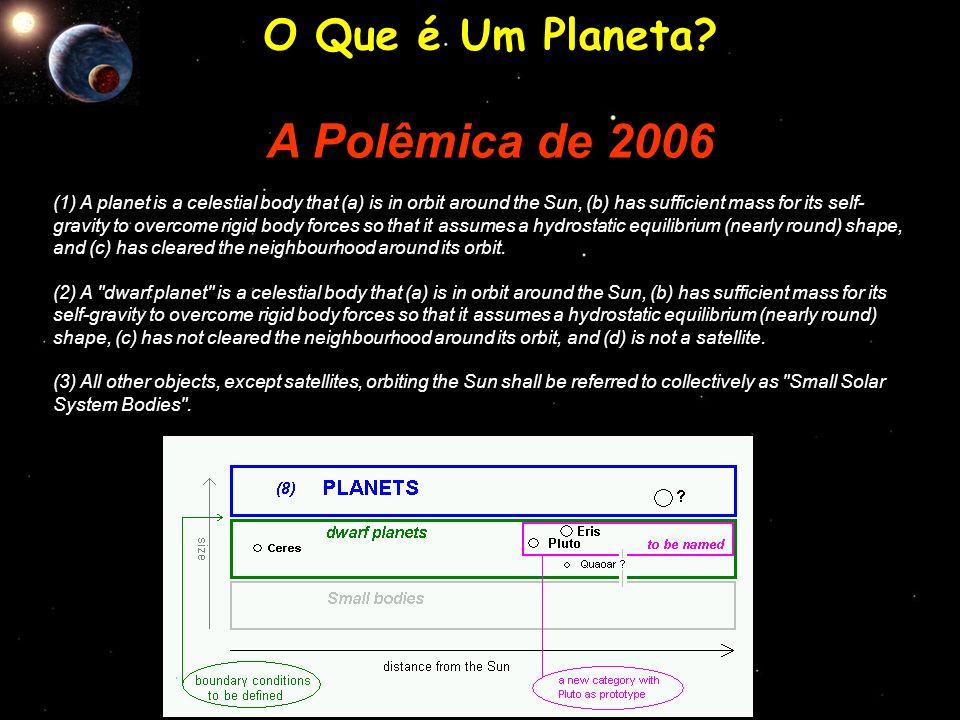 A Polêmica de 2006 O Que é Um Planeta