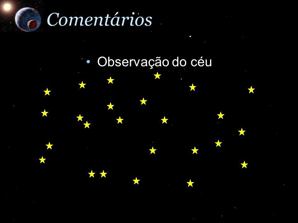 Comentários Observação do céu
