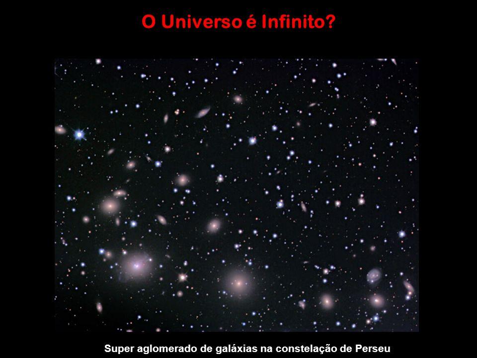 O Universo é Infinito Super aglomerado de galáxias na constelação de Perseu