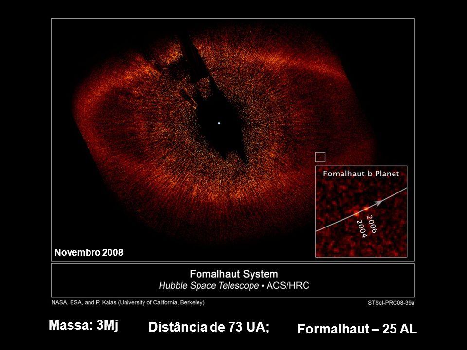 Massa: 3Mj Distância de 73 UA; Formalhaut – 25 AL Novembro 2008