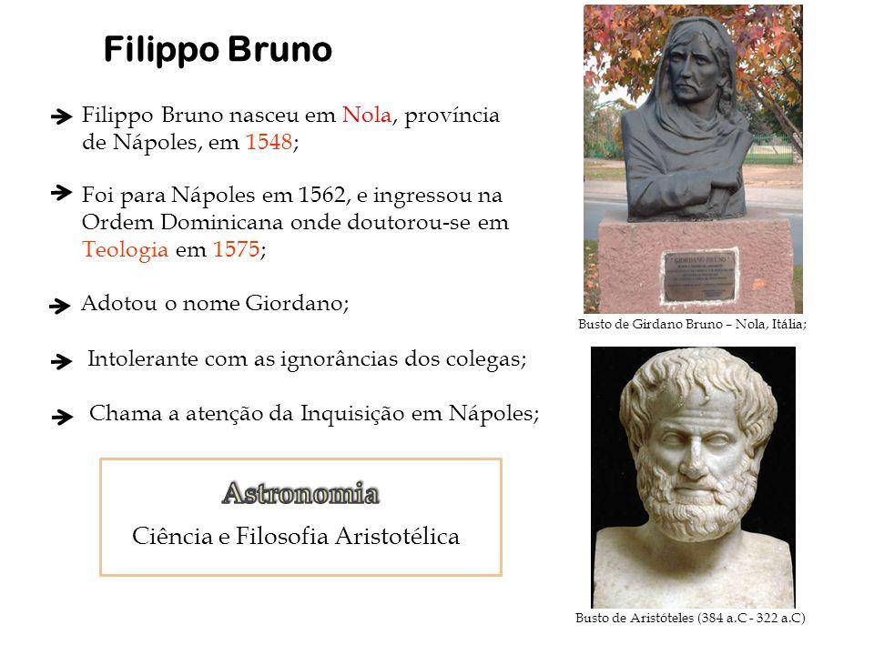 Filippo Bruno Astronomia Ciência e Filosofia Aristotélica