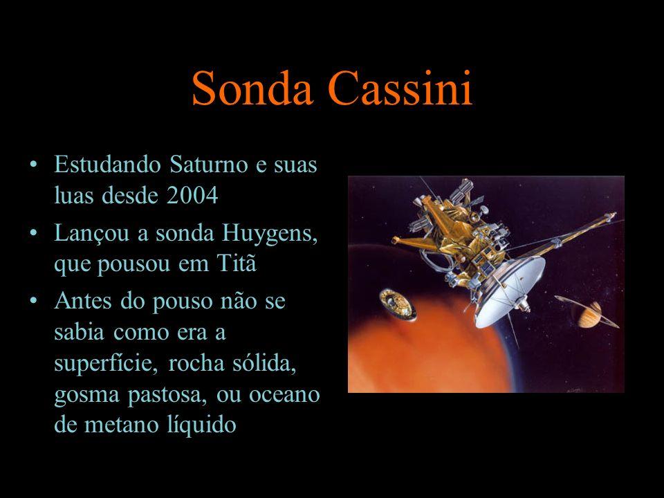 Sonda Cassini Estudando Saturno e suas luas desde 2004