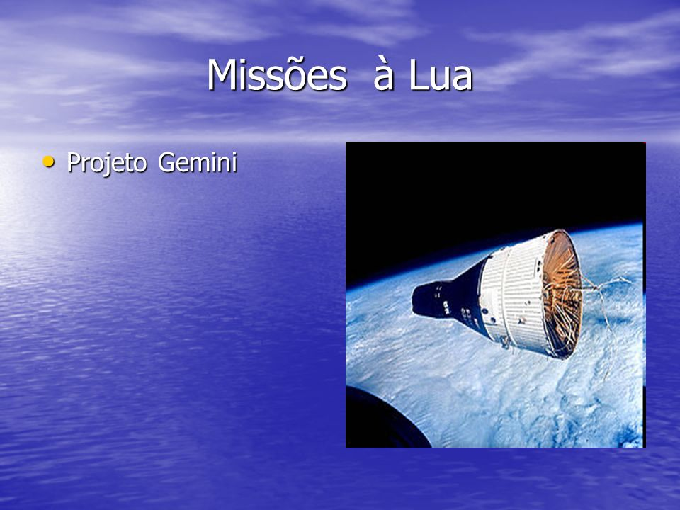 Missões à Lua Projeto Gemini