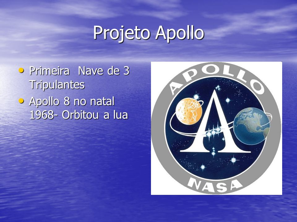 Projeto Apollo Primeira Nave de 3 Tripulantes