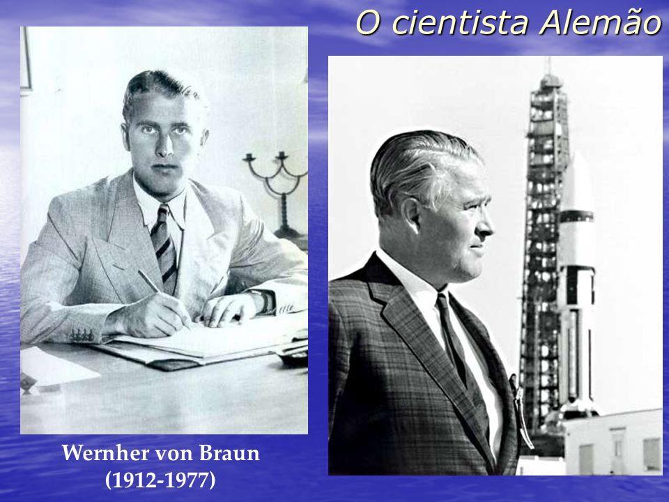 O cientista AlemãoWernher von Braun. (1912-1977) O foguete trabalhou perfeitamente, exceto por ter pousado no planeta errado