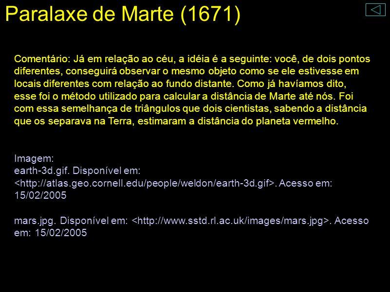 Paralaxe de Marte (1671)