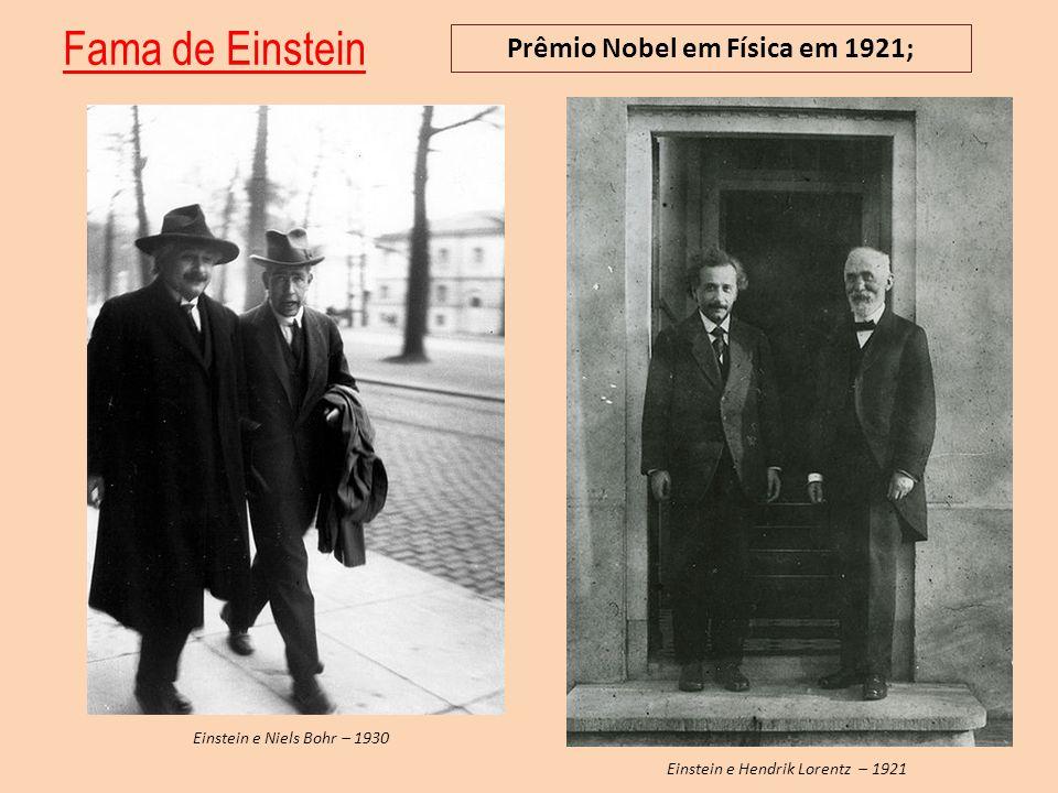 Prêmio Nobel em Física em 1921;