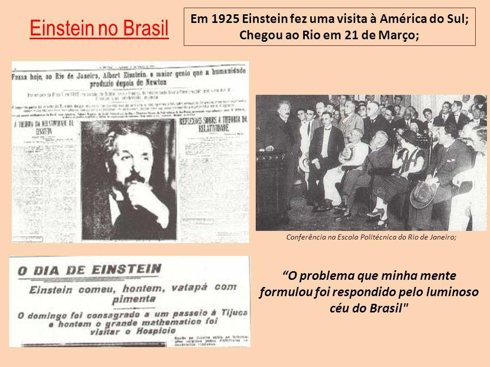 Conferência na Escola Politécnica do Rio de Janeiro;