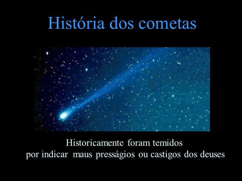 História dos cometas Historicamente foram temidos