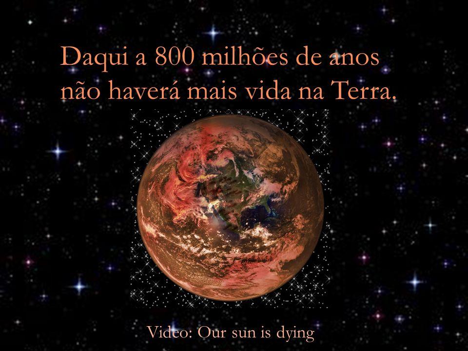 Daqui a 800 milhões de anos não haverá mais vida na Terra.