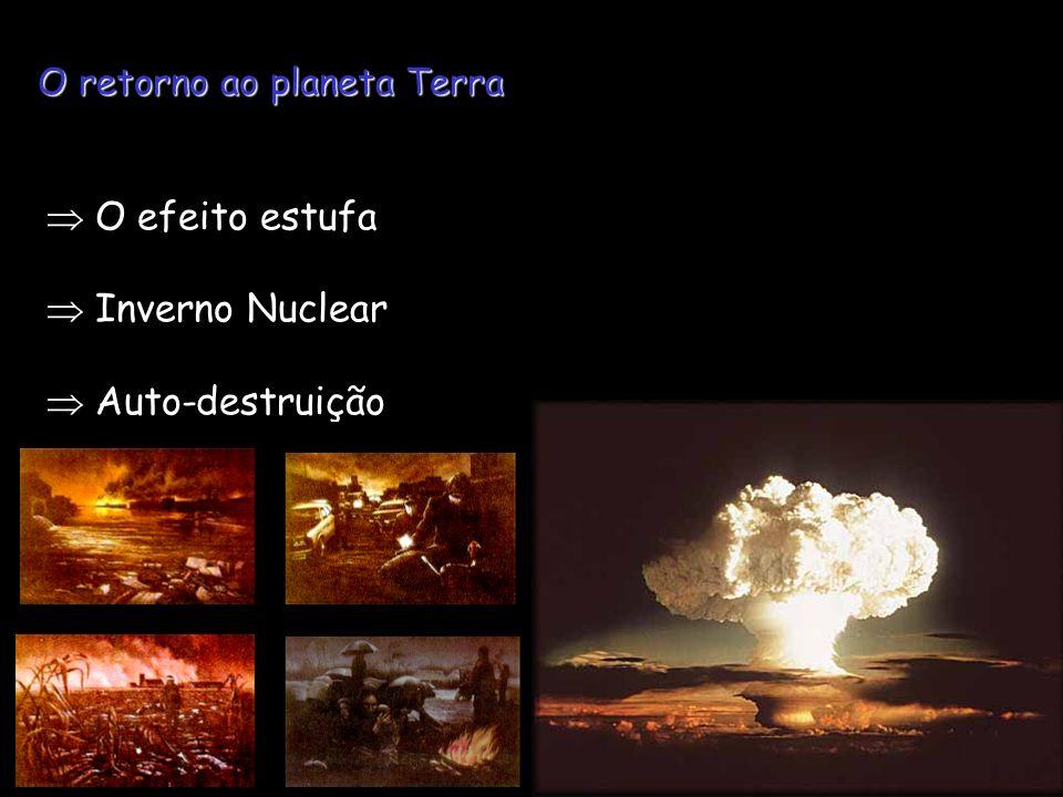  O efeito estufa  Inverno Nuclear  Auto-destruição
