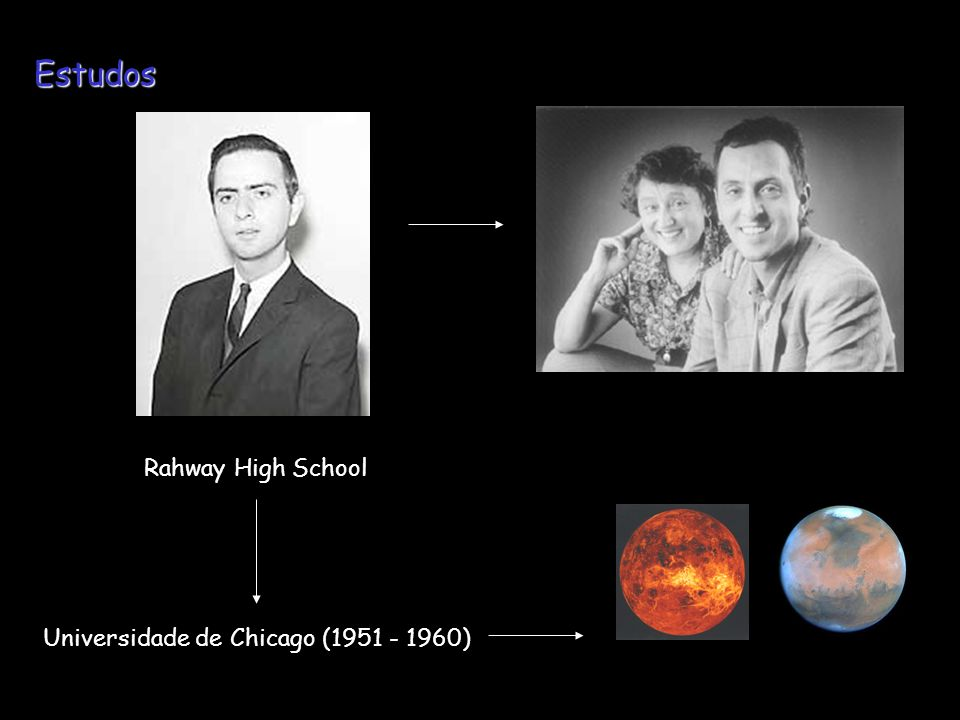 Estudos Rahway High School Universidade de Chicago (1951 - 1960)