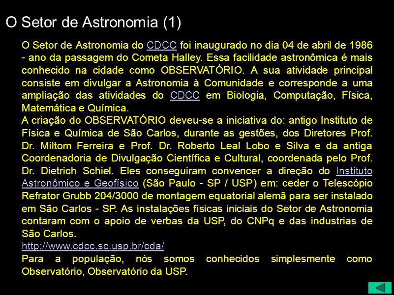 O Setor de Astronomia (1)