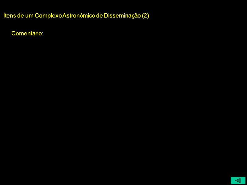 Itens de um Complexo Astronômico de Disseminação (2)