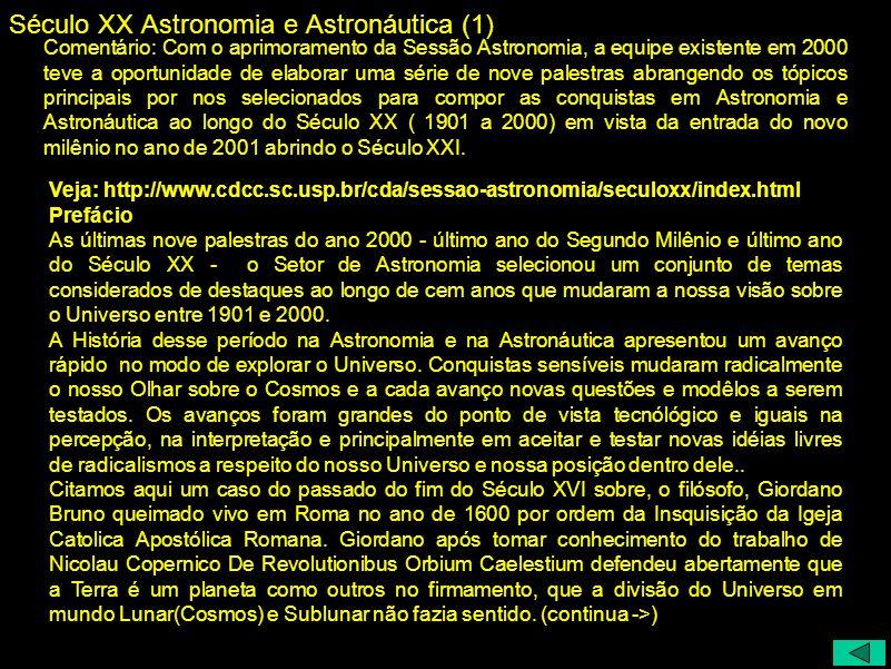 Século XX Astronomia e Astronáutica (1)
