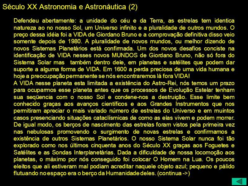 Século XX Astronomia e Astronáutica (2)