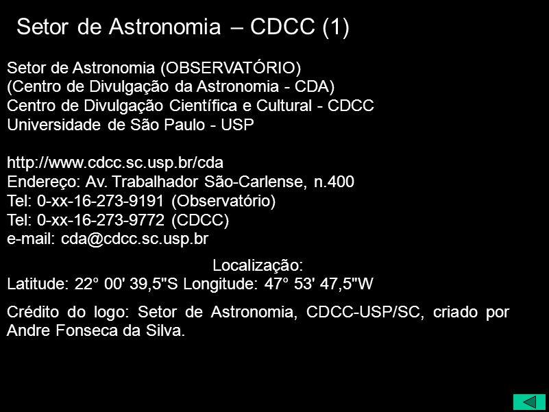 Setor de Astronomia – CDCC (1)