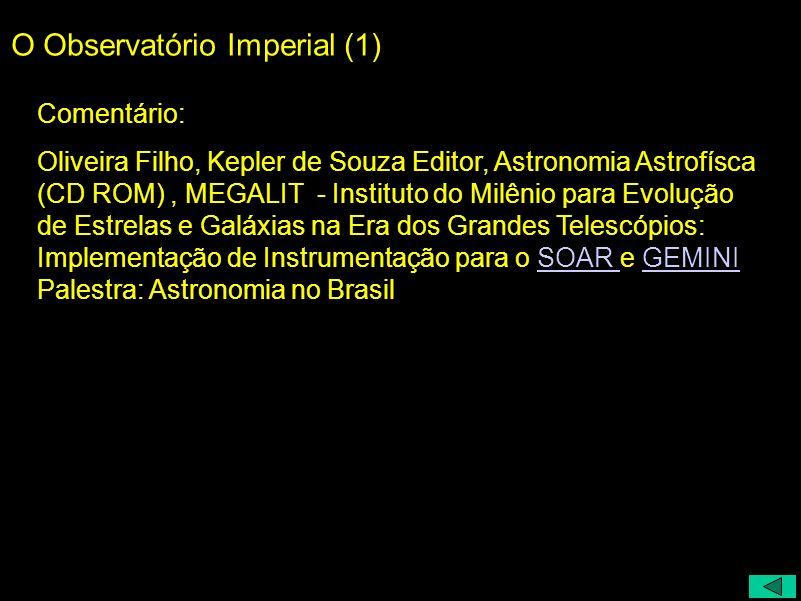 O Observatório Imperial (1)