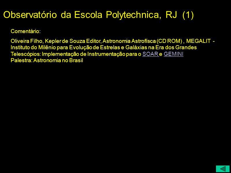 Observatório da Escola Polytechnica, RJ (1)