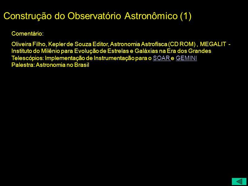 Construção do Observatório Astronômico (1)