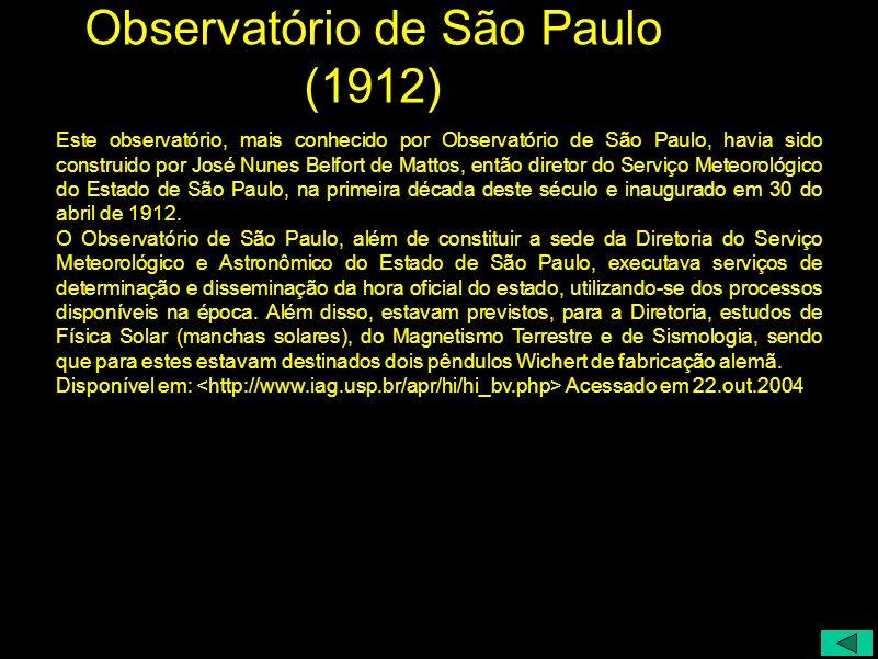 Observatório de São Paulo (1912)