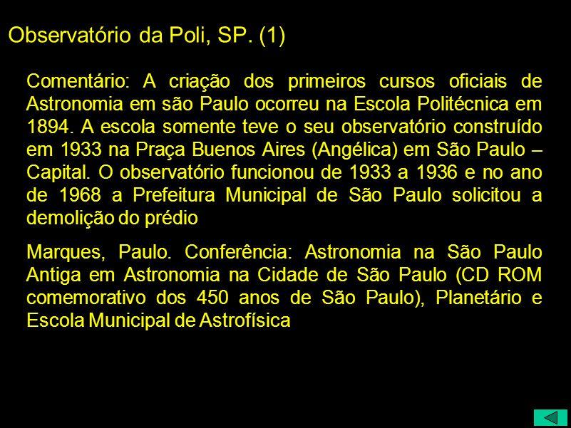 Observatório da Poli, SP. (1)