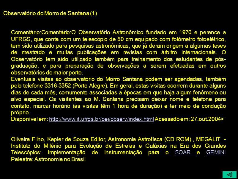 Observatório do Morro de Santana (1)