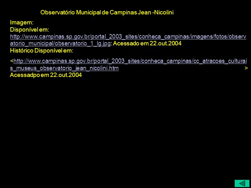 Observatório Municipal de Campinas Jean -Nicolini